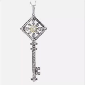 Jewelry - 2.62ctw Canary, White Diamond Stimulants Rhodium